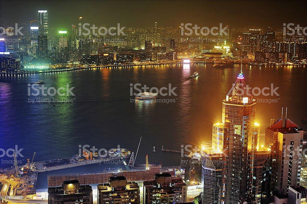 Kowloon at night royalty-free stock photo