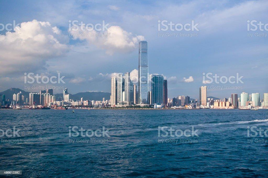 Kowloon buildings in Hong Kong stock photo
