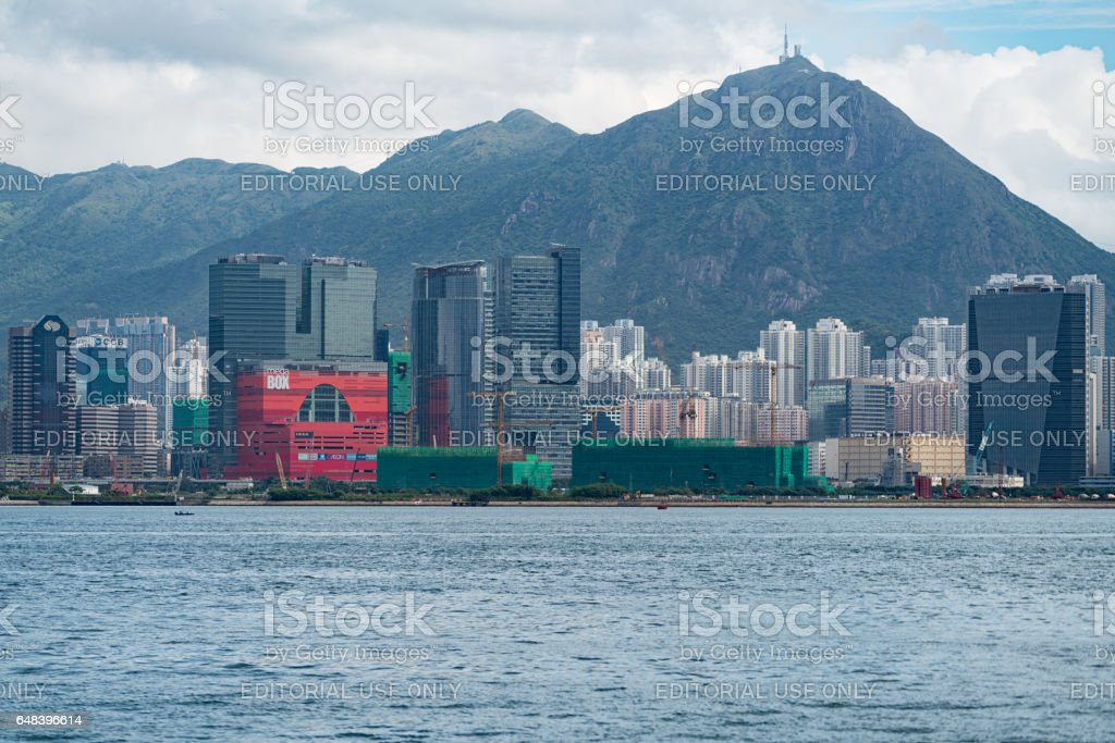 Kowloon East in Hong Kong stock photo