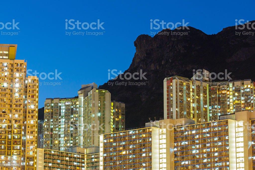 Kowloon night stock photo