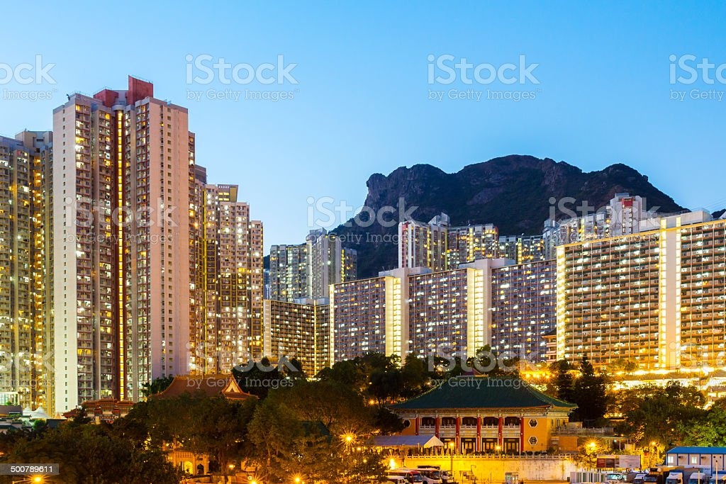 Kowloon residential building stock photo
