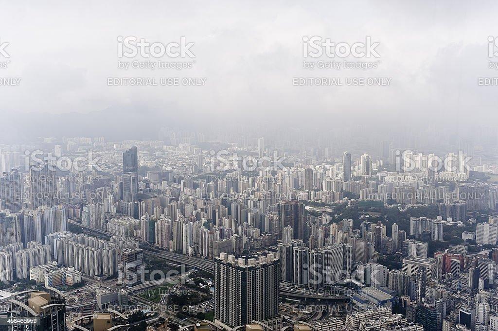 Kowloon the concrete jungle royalty-free stock photo