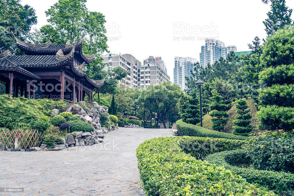 Kowloon Walled City Park stock photo