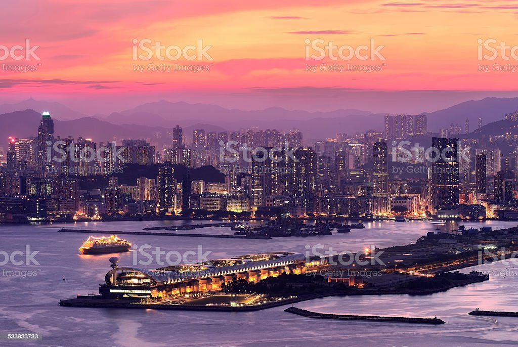 Kowloon West, Hong Kong stock photo
