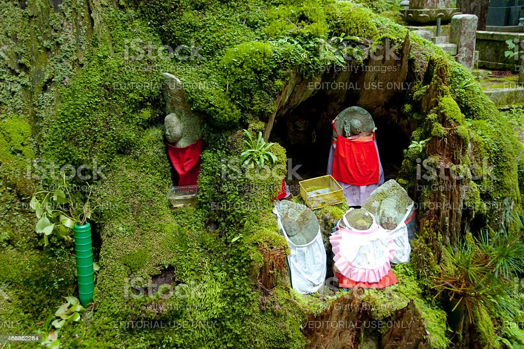 Koyasan Okunoin cemetery, Jizo Statues, Japan stock photo