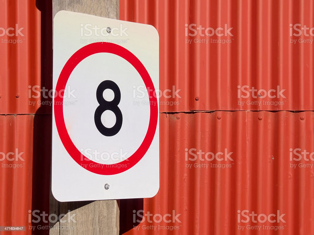 8 kph on red stock photo