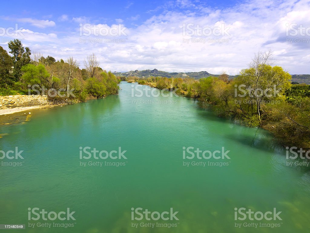 Köprüsü River stock photo