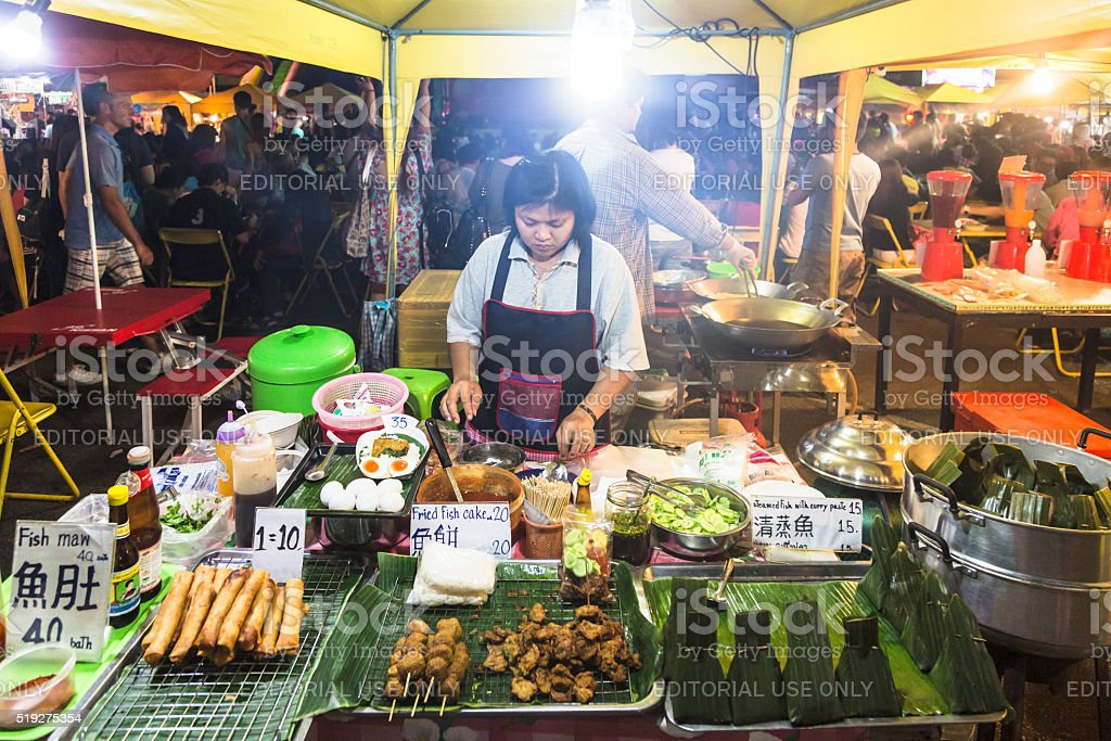 Krabi night market stock photo