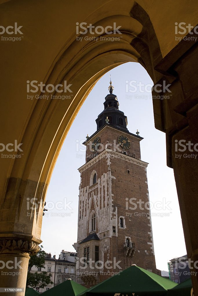 Kracow. Town Hall Tower stock photo