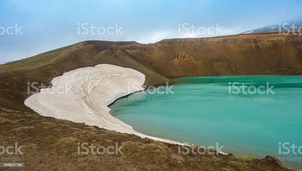 Krafla Viti Crater, Iceland stock photo