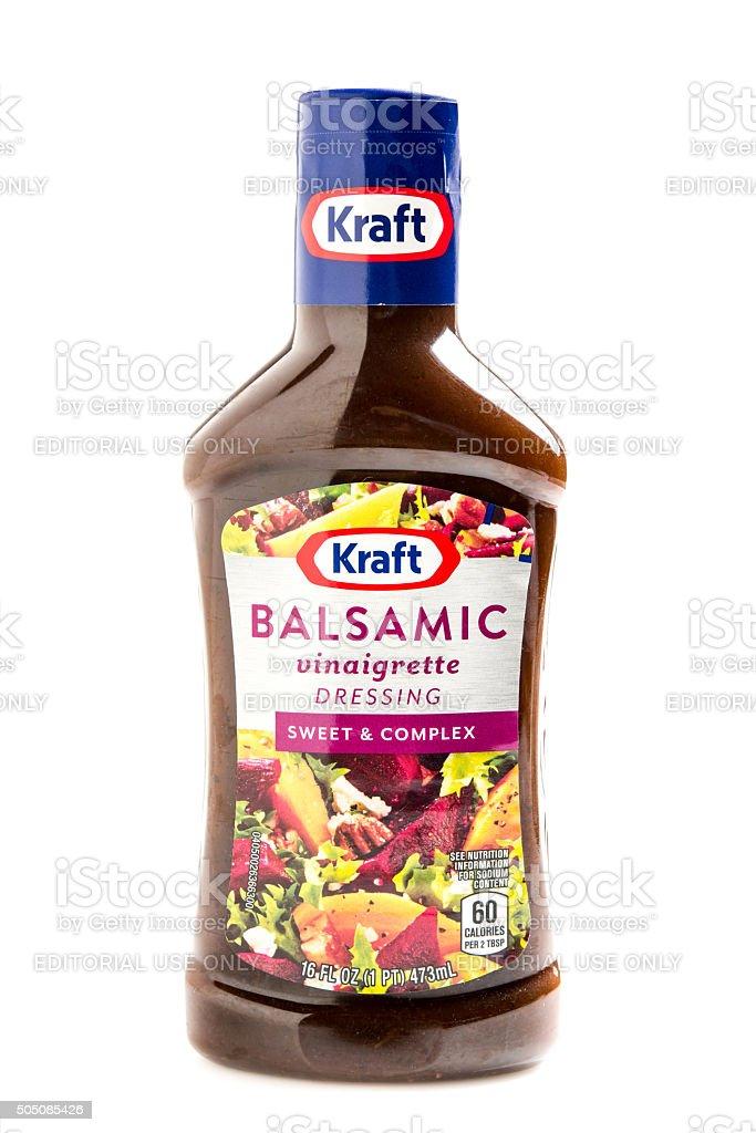 Kraft Brand Balsamic Vinaigrette Dressing stock photo