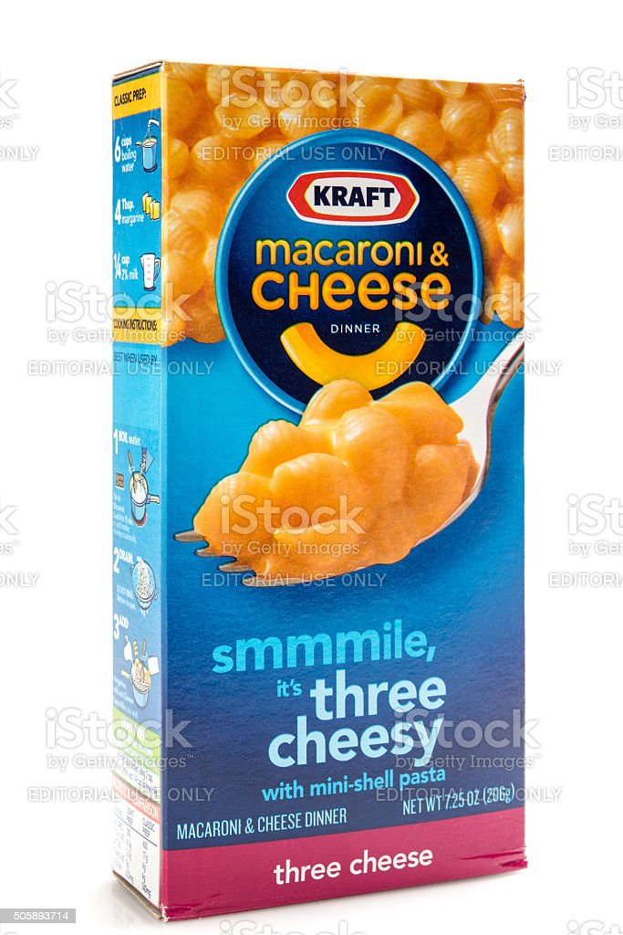 Kraft Brand Macaroni and cheese stock photo