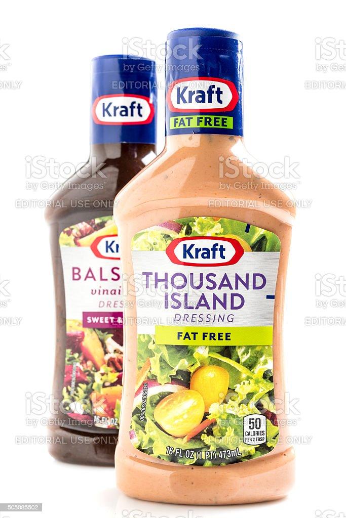 Kraft Brand Thousand Island Dressing stock photo