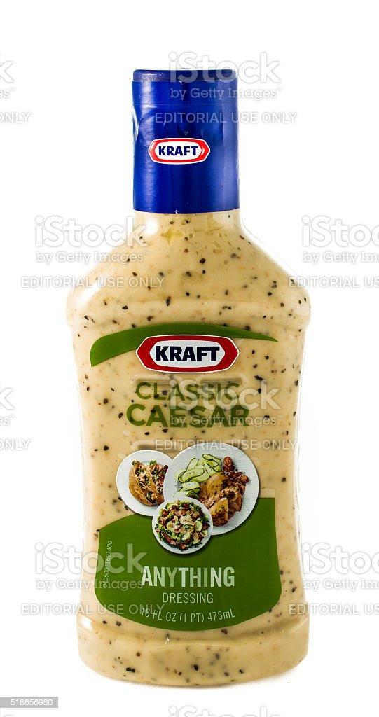 Kraft classic caeser salad dressing stock photo