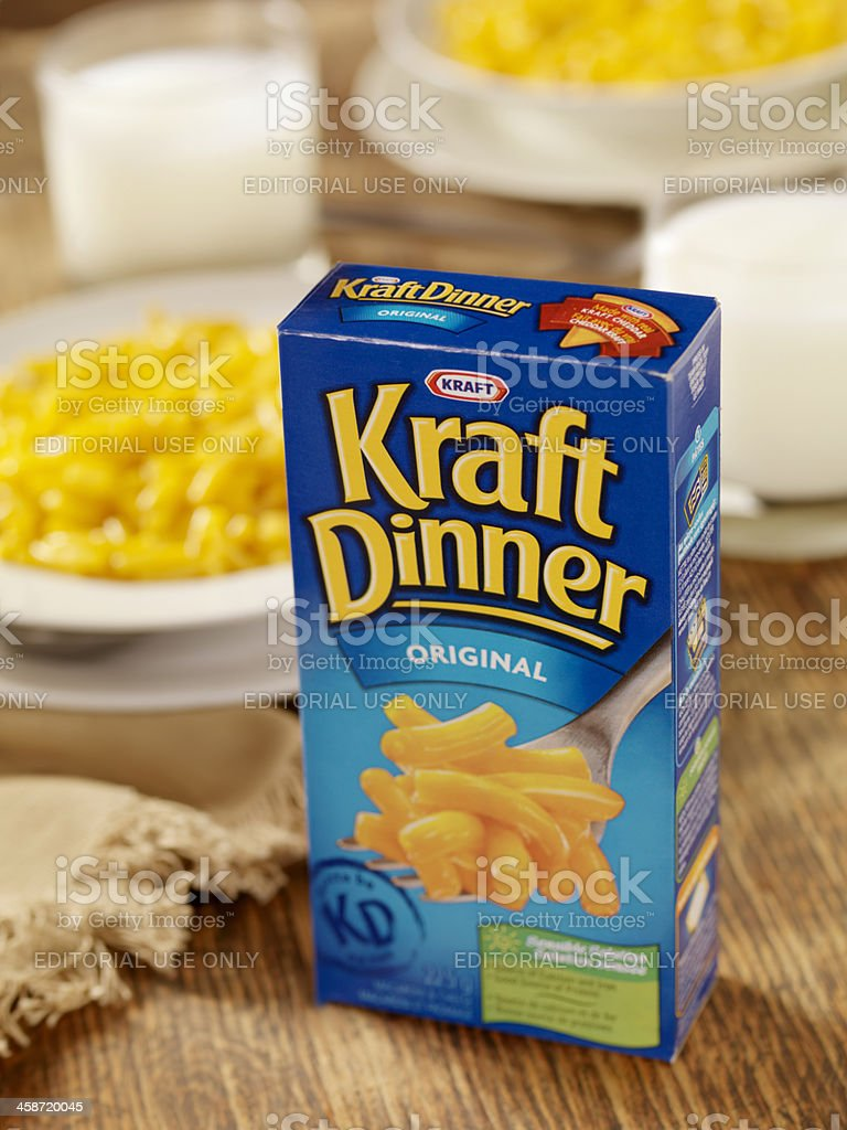 Kraft Dinner stock photo