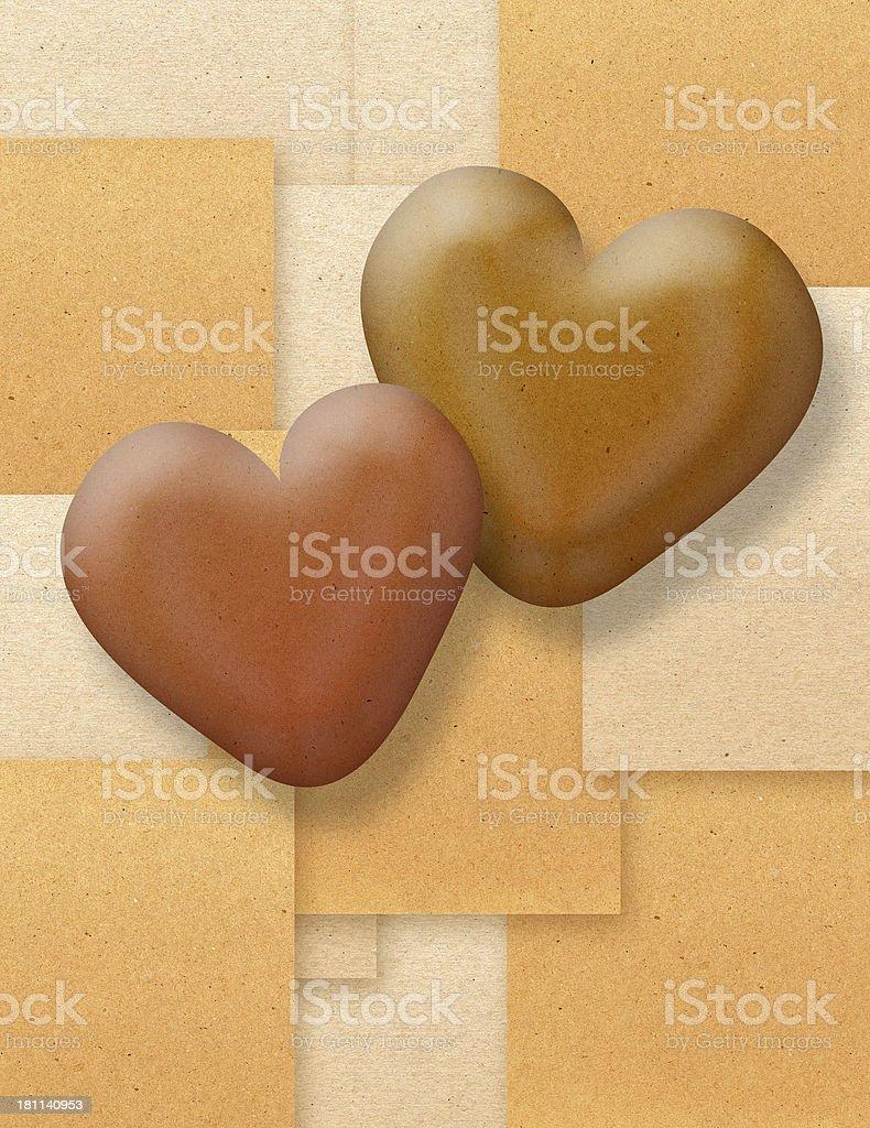 Kraft Hearts of Contrast royalty-free stock photo