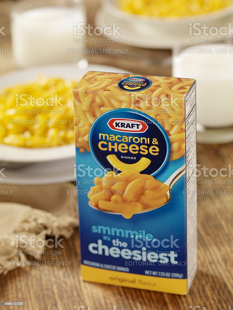 Kraft Macaroni and Cheese Dinner stock photo