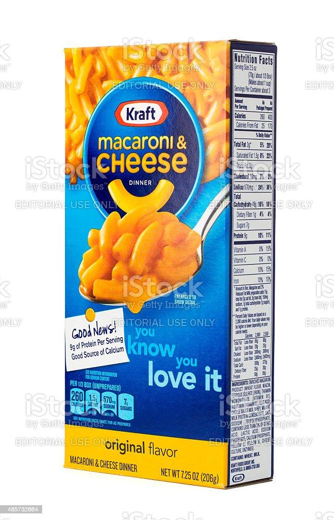 Kraft Macaroni and Cheese Dinner stock photo
