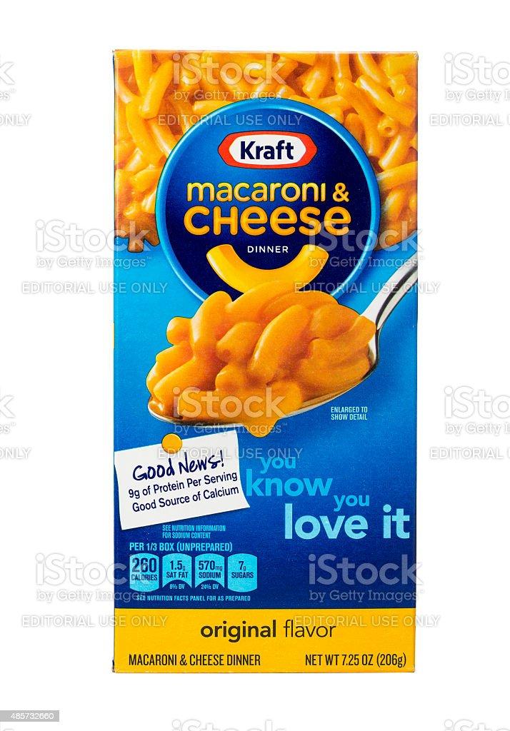 Kraft Macaroniand Cheese stock photo