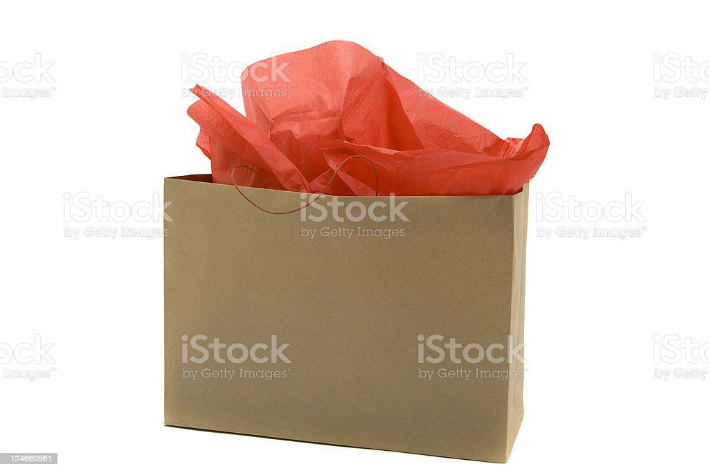 Kraft Paper Bag stock photo