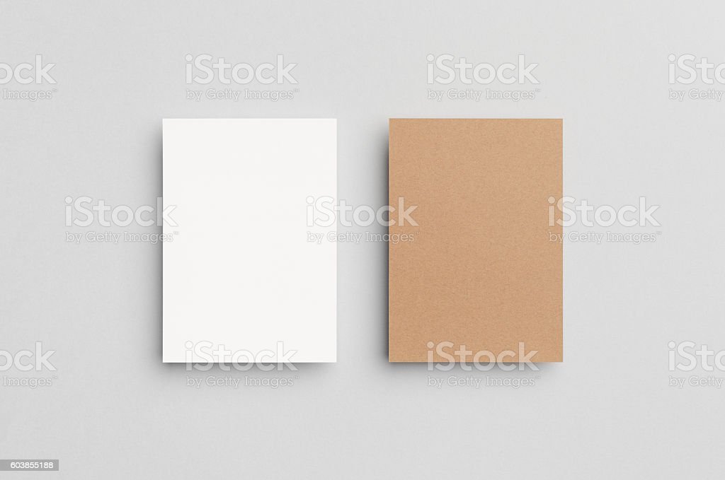 Kraft & White A6 Flyer / Postcard / Invitation Mock-Up