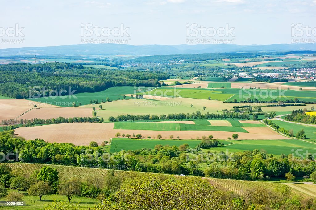 Kraichgau landscape stock photo