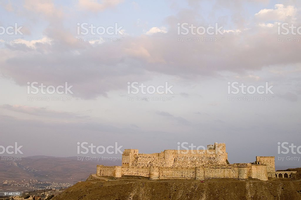 Krak des Chevaliers castle of crusaders Syria stock photo