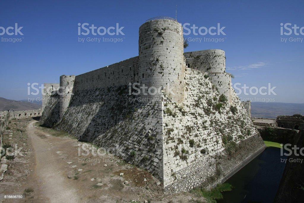 Krak des Chevaliers castle, Syria stock photo