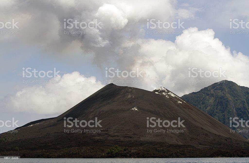 Krakatau Volcano, Indonesia. stock photo