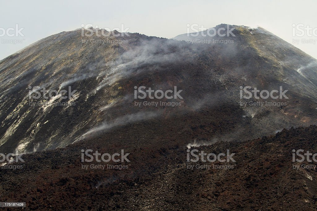 Krakatau Volcano lava flow September 2012 royalty-free stock photo