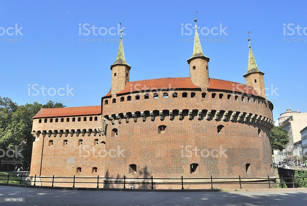 Krakow Barbacan stock photo