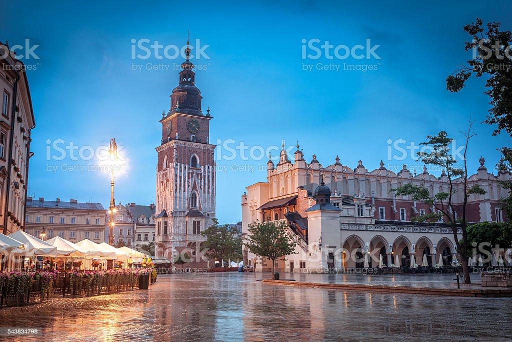Krakow Center stock photo