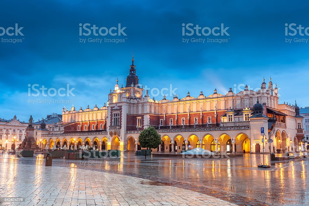 Krakow, historic center Cloth Hall on Market Square stock photo