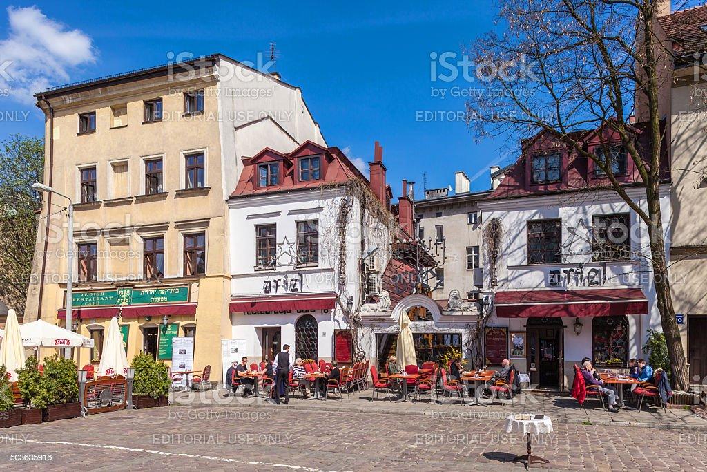 Krakow, Jewish District Kazimierz stock photo