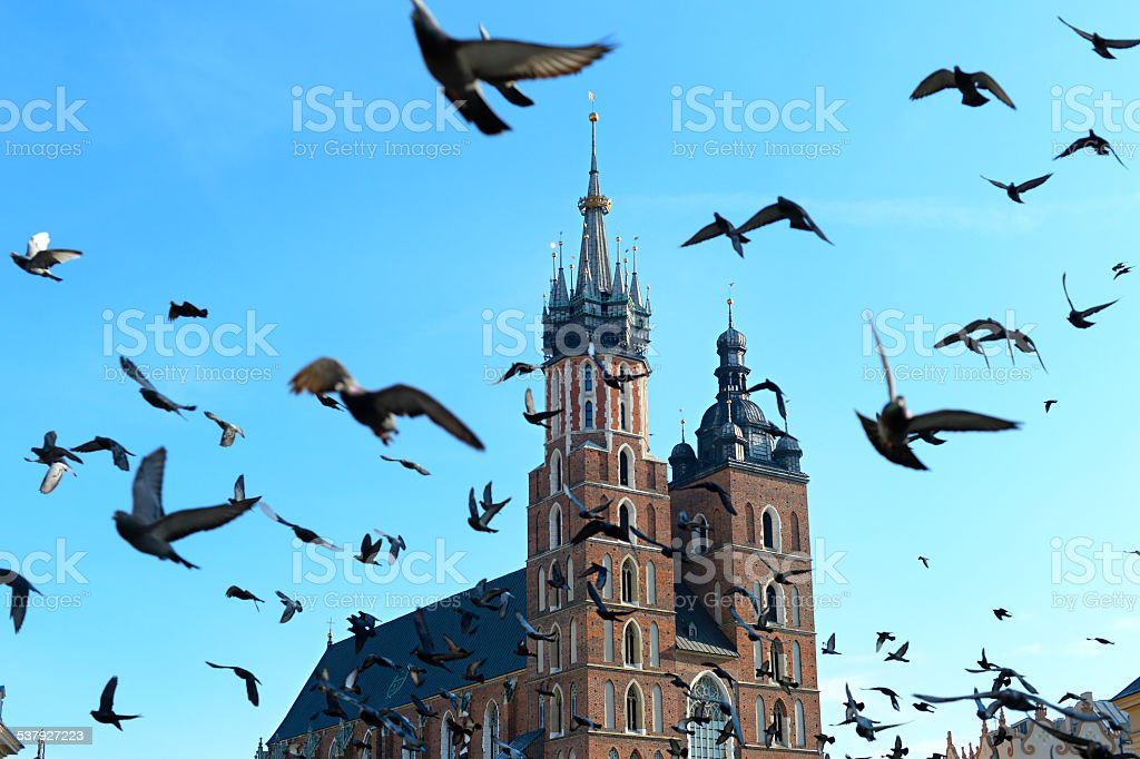Krakow landmarks stock photo