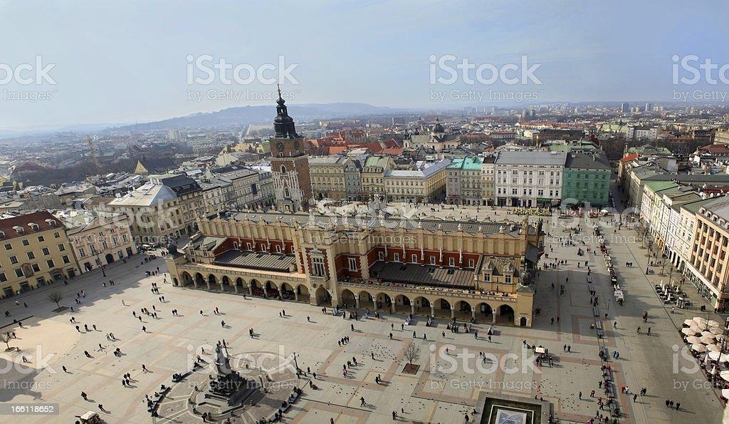 Krakow, Main Square (Panorama) stock photo