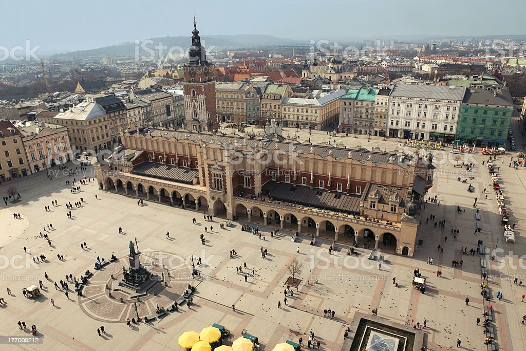 Krakow: Main Square, Sukiennice royalty-free stock photo
