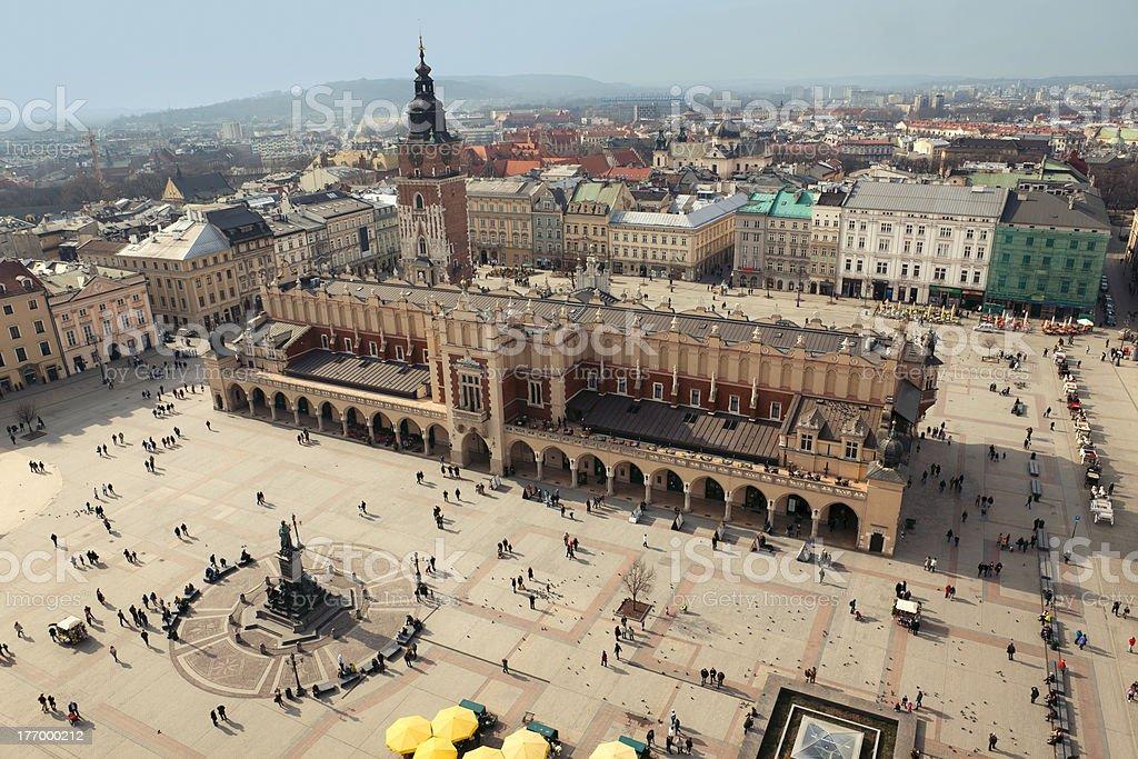 Krakow: Main Square, Sukiennice stock photo