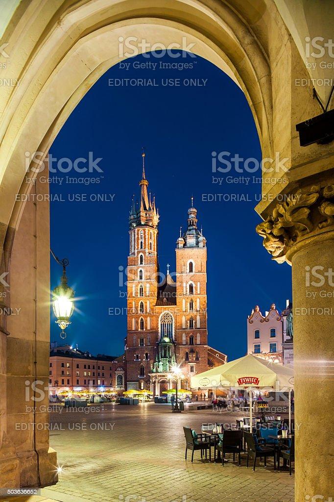 Krakow, Poland Church of Our Lady stock photo