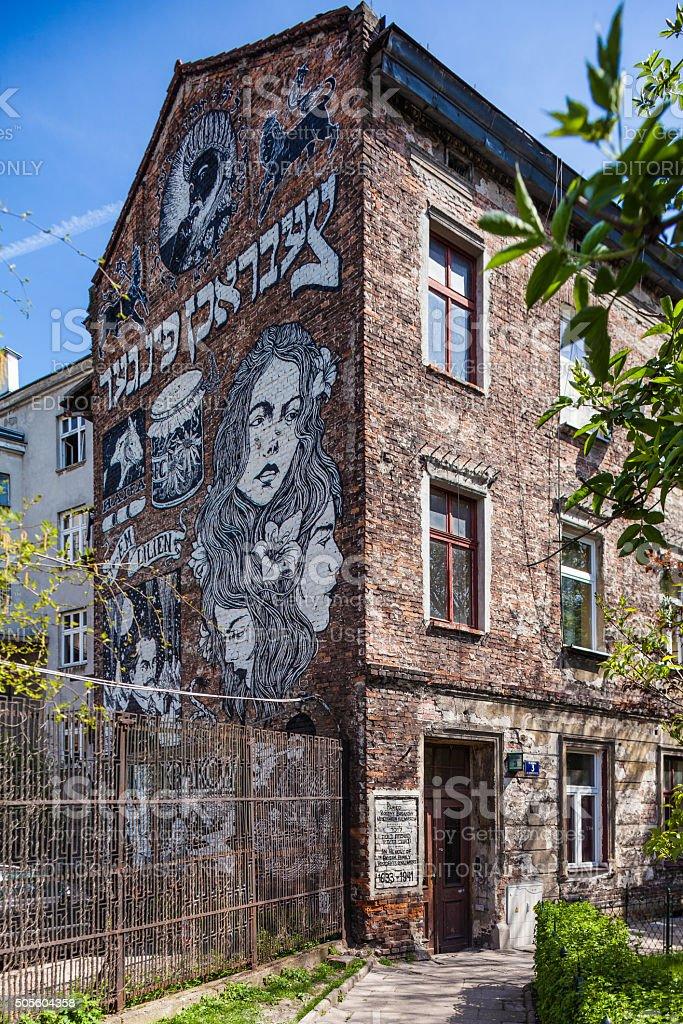 Krakow, Poland - jewish district Kazimierz stock photo