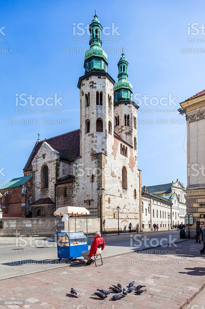 Krakow, Poland. St. Andrew Curch stock photo