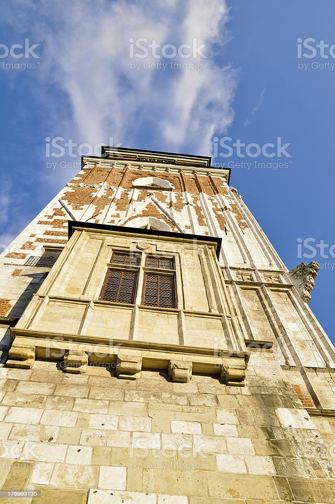 Krakau Town Hall tower Lizenzfreies stock-foto