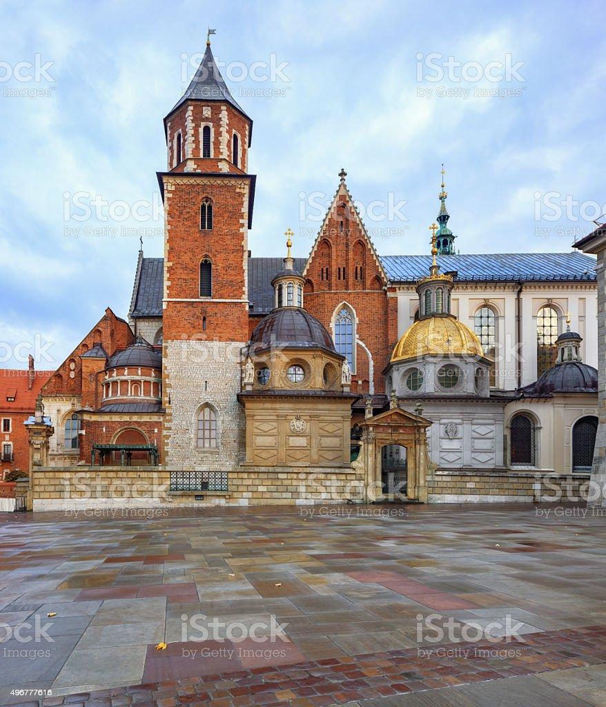 Krakow Wawel Royal Castle stock photo