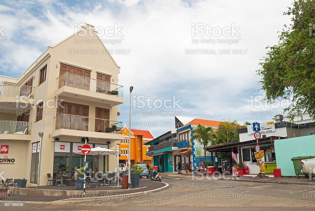 Kralendijk center, Bonaire stock photo