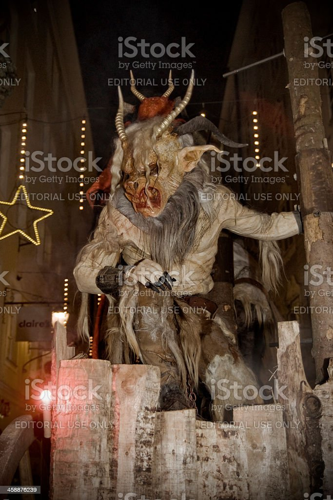 Krampus in Salzburg stock photo