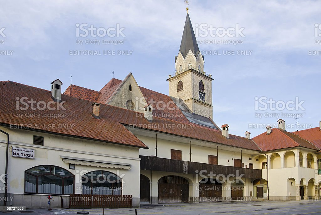 Kranj, Slovenia - Church of St. Cantianus stock photo