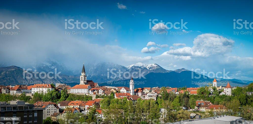 Kranj, Slovenia - Panorama view stock photo