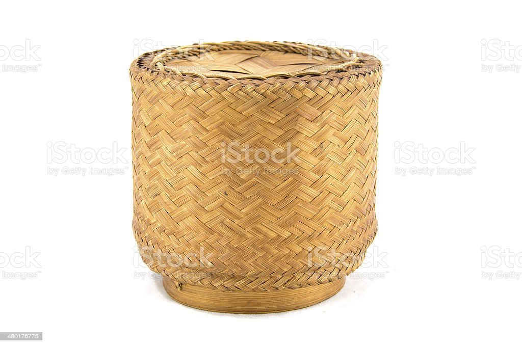KRATIP,thai laos bamboo sticky rice container royalty-free stock photo