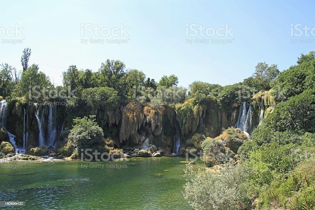 Kravice Waterfalls in Bosnia Herzegovina stock photo