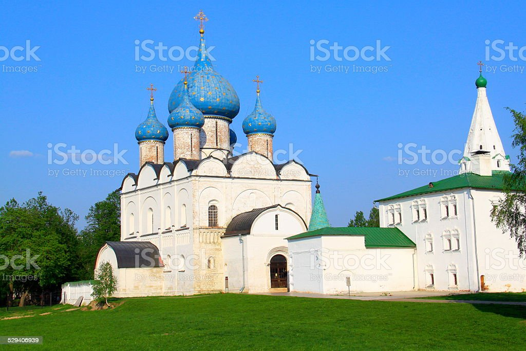 Kremlin and Orthodox Cathedral of Nativity - Ancient Suzdal, Russia stock photo